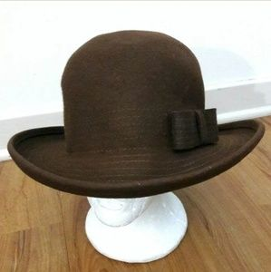 Liz Claiborne Vintage 1995 Brown Cloche Bucket Hat